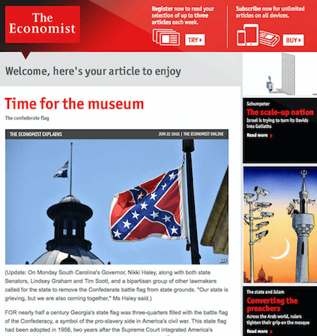 Dynamic advertising at The Economist