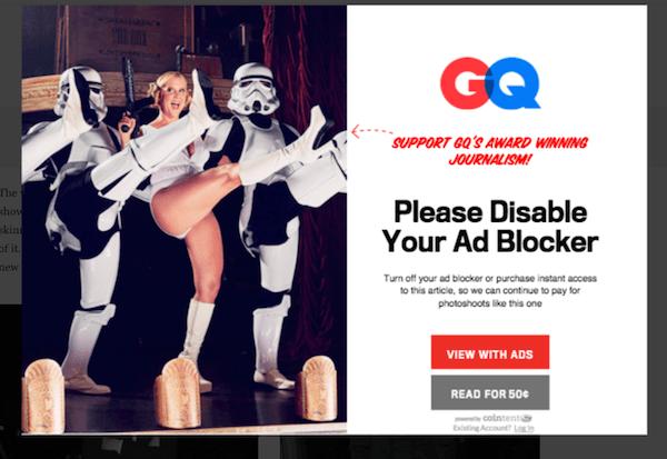 Ways to combat ad block