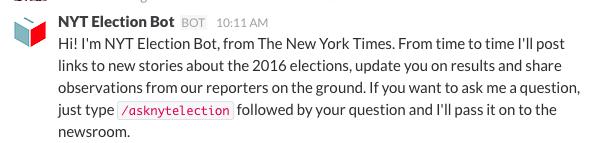 NYT election bot - Admixer Blog