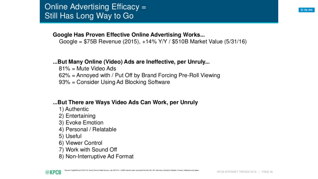 video ads obstacles