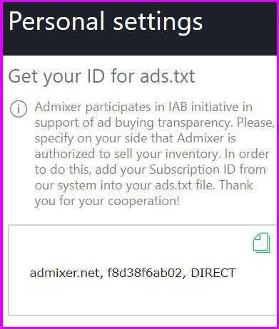 get admixer id ads.txt
