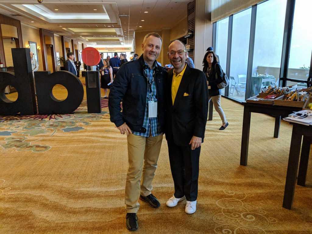 President of IAB Ukraine Aleksey Boltivets and President of IAB International Randall Rothenberg