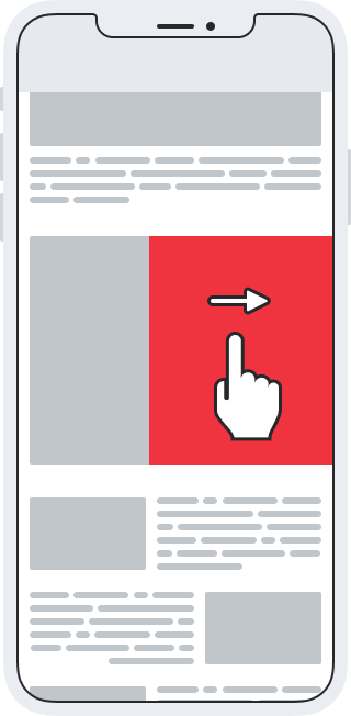 Admixer Blog - Mobile Ad Formats - Mobile Swipe Ads