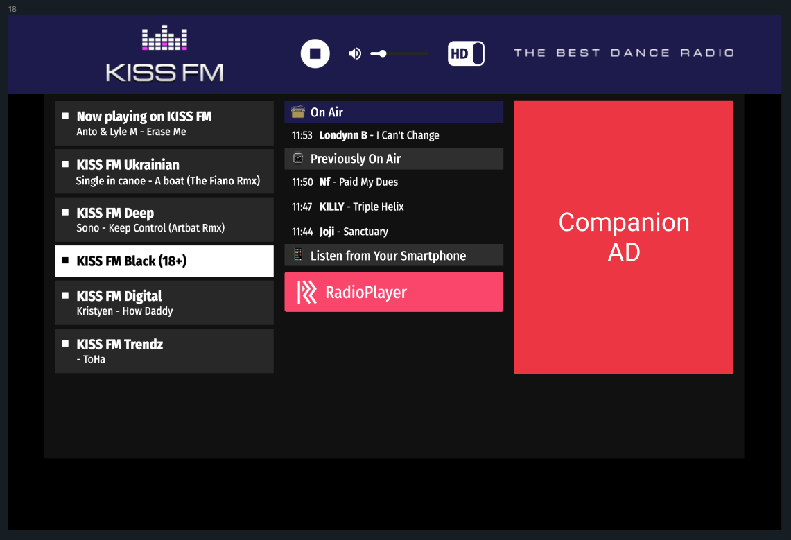 Audio companion ad