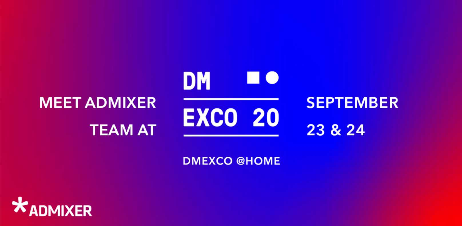 Admixer at DMEXCO @home 2020